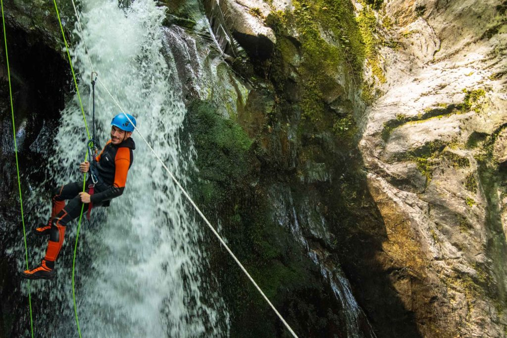 marc ariège tyrolienne canyoning