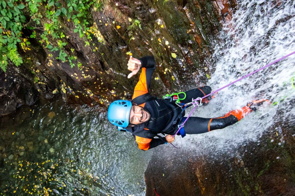 cascade canyoning argensou sourire