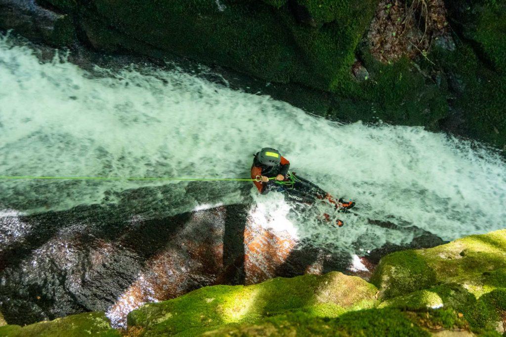 canyon toboggan rappel eau
